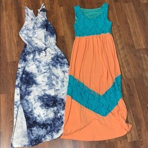 Two Girls Maxi Dresses (Ralph Lauren) Size Youth S